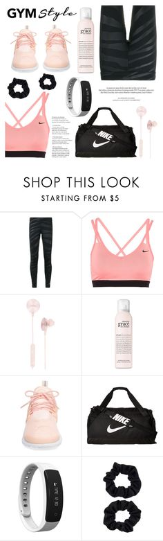 """Work It Out: Gym Essentials (Contest Entry)"" by raniaghifaraa ❤ liked on Polyvore featuring adidas, NIKE, i.am+, philosophy, Louis Vuitton, Accessorize and gymessentials"