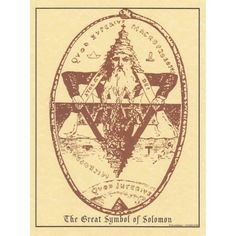 The Great Symbol of Solomon A4 Pagan Poster