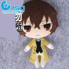 Аниме bungou бродячих собак Осаму дадзай самодельный игрушка брелок сумка висячий плюшевая кукла подарок