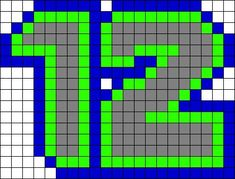 Seahawks 12th Man | Perler Bead Patterns | Pinterest | 12th Man ...