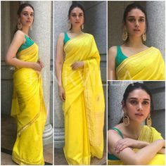 Yay or Nay : Aditi Rao Hydari in Raw Mango Modern Saree, Stylish Blouse Design, Saree Trends, Sari Blouse Designs, Stylish Sarees, Dress Indian Style, Saree Look, Elegant Saree, Fancy Sarees