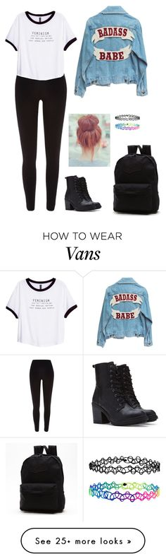 """""""outfit of the day"""" by haileypariswatson on Polyvore featuring River Island, H&M, Forever 21, Accessorize and Vans"""