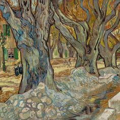 The Large Plane Trees, Vincent Van Gogh, Van Gogh Arte, Memes Arte, Van Gogh Paintings, Dutch Artists, Beautiful Paintings, Painting Inspiration, Landscape Paintings, Fine Art