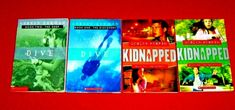 4 Books Gordon Korman 4th 5th 6th Grade Kidnapped #1 & 2 Dive #1 & 2 Teachers