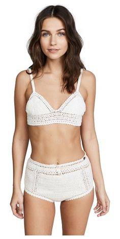 a76c6c9858 Essential cotton crochet baby doll bikini top by SHE MADE ME #shemademe  Cotton Crochet,