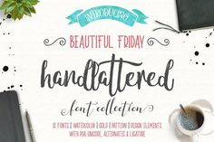 Beautiful Friday (13 Fonts & Extras) by Lostvoltype on @creativemarket