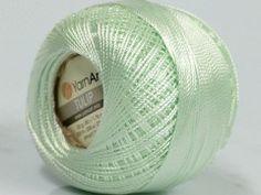 Mint Green - Yarn Art Tulip Size 10 Microfiber Thread - 50 Gram - I Crochet World Crochet Thread Patterns, Crochet Thread Size 10, Thread Size Chart, Thread Holder, How To Clean Metal, Crochet World, Yarn Colors, Mint Green, Needlepoint