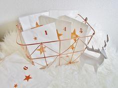 ★+Adventskalender+★+Kupfer+★+Korb+★+Sterne+★+von+verfilzt+&+angenäht+auf+DaWanda.com
