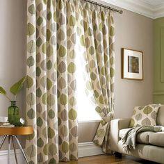 Green Regan Lined Pencil Pleat Curtains | Dunelm