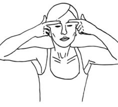"TO ""LIFT UPPER EYELIDS"", place index finger below eyebrow and slowly push up until you feel browbone beneath the pad of your finger.  Count to 5.  Move eyelids downwards to eyes closed.  You will feel a tightening over your lid.  Hold and count to five.  Release and count to 3.  Repeat 5 times."