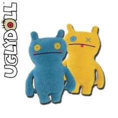 "Wage Double Trouble Blue Yellow Ugly Doll 14"" Plush # 4035800 Gund NWT #Gund"