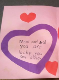 Child's accidentally ominous Valentine...