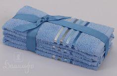 Набор полотенец BALE голубой 30х50 (3шт) от Karna (Турция) - купить по низкой цене в интернет магазине Домильфо