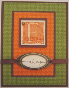 A is For Adorable by PeggyB - Cards and Paper Crafts at Splitcoaststampers Alphabet Stamps, Monogram Alphabet, Stampin Up Cards, Paper Crafts, Hardware, Letters, Inspired, Frame, Inspiration