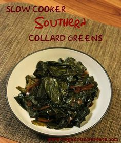 Vegan Collard Greens in a Slow Cooker - a Southern New Year's Day Tradition | www.veganrunnereats.com