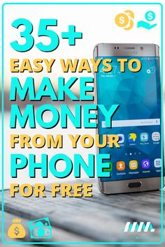 Are you looking for ways to earn more cash? It has never been easier to make more money than it is today thanks to your smartphone! Your phone can help you make more money from home, online, on the go and on your own schedule. There are dozens of apps and services to help you reach your financial goals! Here are 35+ easy ways to make money from your phone for free! #makemoney #makemoneyonline #makemoneyfromhome #DIYjobs #sidehustle #personalfinance