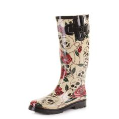 Womens Skulls and Roses Wellies Festival Boots SIZE 4 Festival Wellies, Festival Boots, Ladies Wellies, Skulls And Roses, Rubber Rain Boots, Shoe Bag, Lady, Shoes, Women