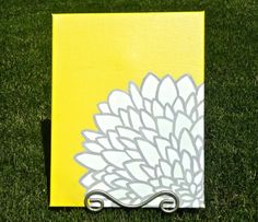 flower painting...i can totally make this