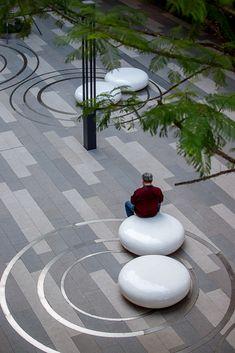 Landscape Plaza, Landscape Architecture Design, Landscape Lighting, Urban Landscape, Plaza Design, Terrace Design, Garden Design, Urban Furniture, Street Furniture