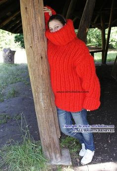 Chunky Knitwear, Thick Sweaters, Sweater Outfits, Things To Come, Turtle Neck, Women's Fashion, Make It Yourself, Wool, Knitting