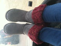 Grandma's cute boot covers :)