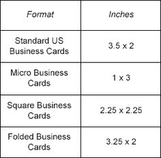 standard business card size standard business card size pinterest business card size - Business Card Size Inches