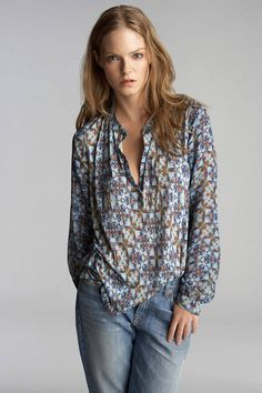 Pippa Stained Glass Print Blouse by Velvet