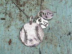 Baseball Number/Name Necklace 2 Tags-baseball sterling silver necklace  baseball necklace. This made me think of you @Jeanne Gregston