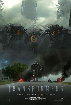 Transformers: Age of Extinction IMAX Poster. A new IMAX poster for director Michael Bay's Transformers: Age of Extinction, starring Mark Wahlberg. Transformers Film, Great Movies, New Movies, Movies Online, Optimus Prime, Teaser, Extinction Movie, Nicola Peltz, Transformers Movie