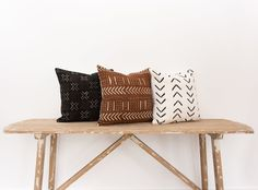Our Vintage African Mudcloth pillows truly speak for themselves. Pictured are three different patterns in black, rust, or white. Did you…