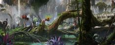 walt disney art from around the world | Avatar land revealed, set to open in 2017 at Walt Disney World with ...