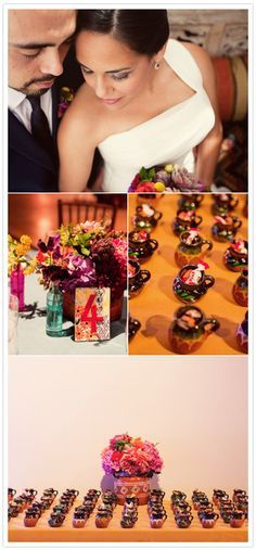 Wedding Favors-Beutiful mexican pottery with mexican candy.