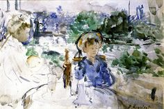 Picnic in the Courtyard Berthe Morisot - 1879