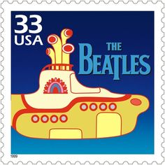 The Beatles were featured on this United States Postal Service stamp issued in 1999.
