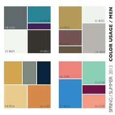 Spring Summer 2013 Color Trends « These palettes for The guys will make sure you look in step this spring/summer.