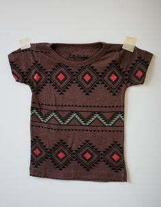 Tribal Child shirt with a geometric design (Etsy, thelittlellama)