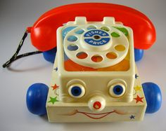 Fisher Price Chatty Telephone Pull Toy, Original Box Red White and Blue, Vintage Fisher Price Toys, Fisher Price Toys, Vintage Fisher Price, 1980s Toys, Retro Toys, Vintage Toys, Antique Toys, 1980s Childhood, Childhood Memories, 1970s