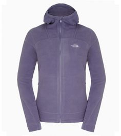 The North Face Women 200 Shadow full zip hooded fleece GREYSTONE BLUE/PURPLE SAGE