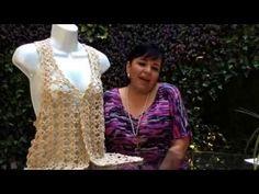 CHALECO GABY - Tejiendo con LAURA CEPEDA - YouTube