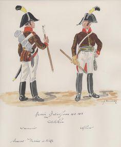 Austria; Artillery 1812-13 Gunner & Officer.