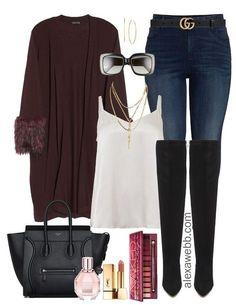 c0b9a74ee11f2 Plus Size Fur Cardigan Outfits - Plus Size Holiday Outfit Ideas - Plus Size  Fashion for Women - alexawebbl.com  plussize  alexawebb