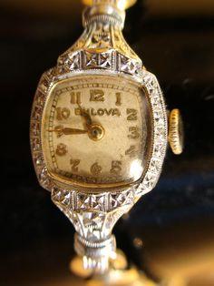 BEAUTIFUL ANTIQUE 1940s BULOVA 10K GOLD FILL SWISS LADIES WATCH SERVICED WORKS | eBay  $119