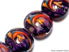 grace lampwork beads artisan handmade glass beads sra four tropical