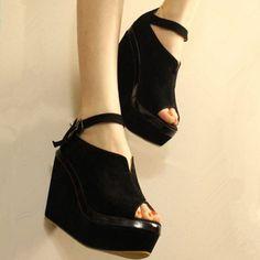 Sexy Peep Toe Wedged Sandals(N1118)