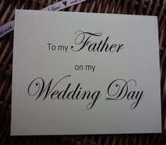 To my Father on my wedding day Father of by WendysWeddingCorner