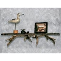 Our Fallow Deer Shelf is perfect for nature enthusiasts and sportsmen alike. Add it to your living room, fireplace setting, game room, or bedroom, preserving nature for generations to come. Rustic Style, Rustic Decor, Reclaimed Wood Shelves, Woodland Critters, Log Furniture, Do It Yourself Projects, Deer Antlers, Cabinet Handles, Creative Decor
