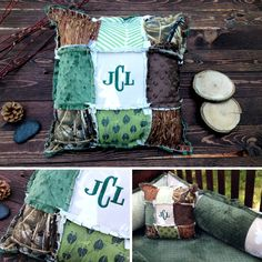 personalized-camo-baby-rag-quilt-pillow