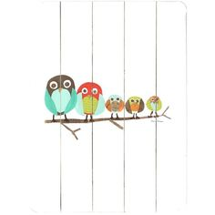 Family of Five Owls Wall Art