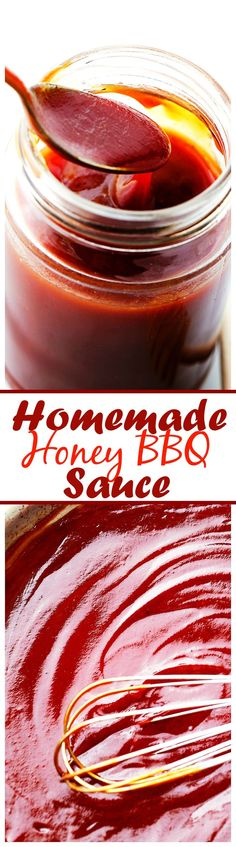 Homemade Honey Barbecue Sauce - Quick and easy recipe for homemade barbecue sauce!