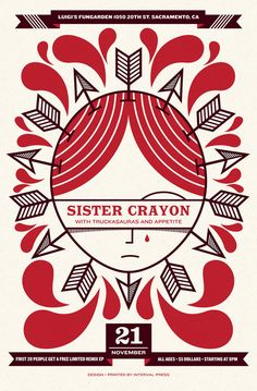 Sister Crayon Gig Poster